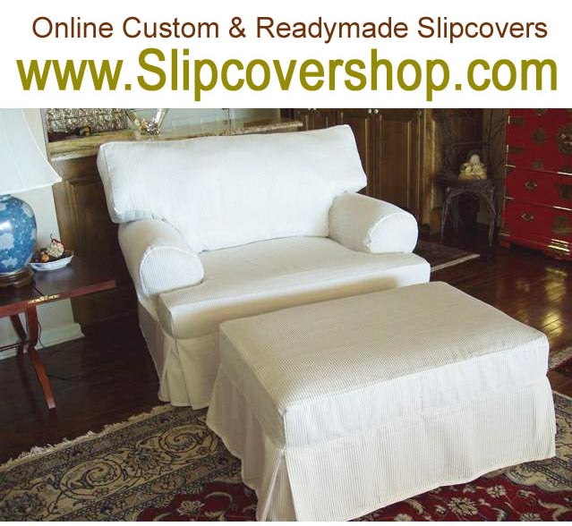Furniture slipcover for ottoman