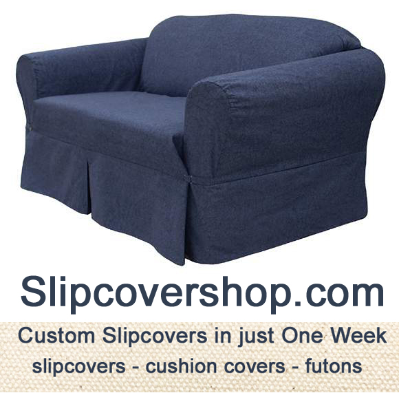 458 Jeans Tumbled furniture slipcover