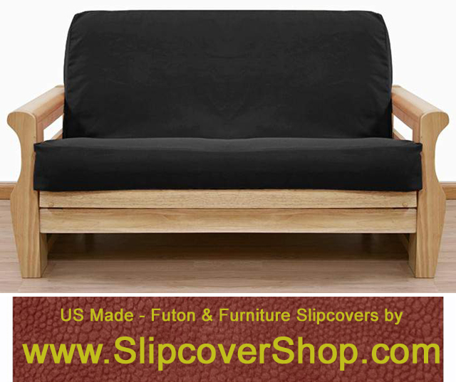 Futon Cover in Solid Black fabric is crafted from upholstery grade duck and will last the test of time.  With this slipcover, seasonal decorating throughout your home is fun and easy, for perfect results you may coordinate this solid slipcover with a variety of  other solids, floral, plaids, and stripes.