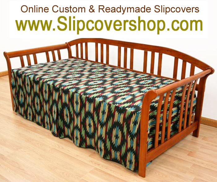 142 Hampton Stripe Espresso daybed cover