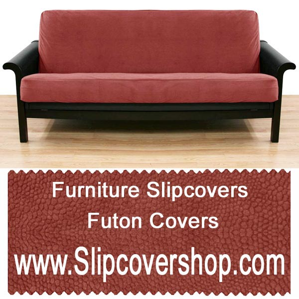 Microsuede Purple Skirted Futon Cover 289
