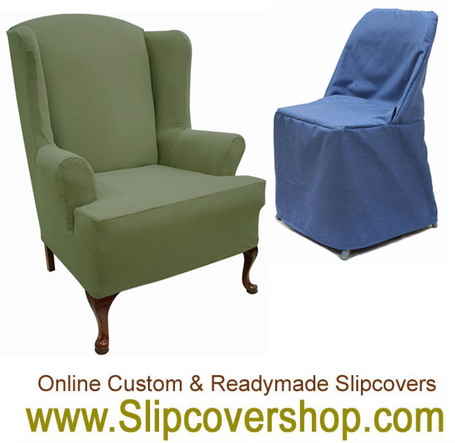 Blue denim dining chair cover