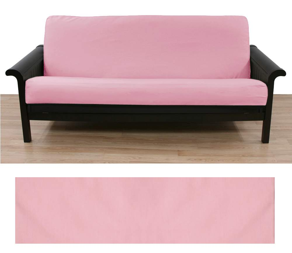 Solid Light Pink Futon Cover