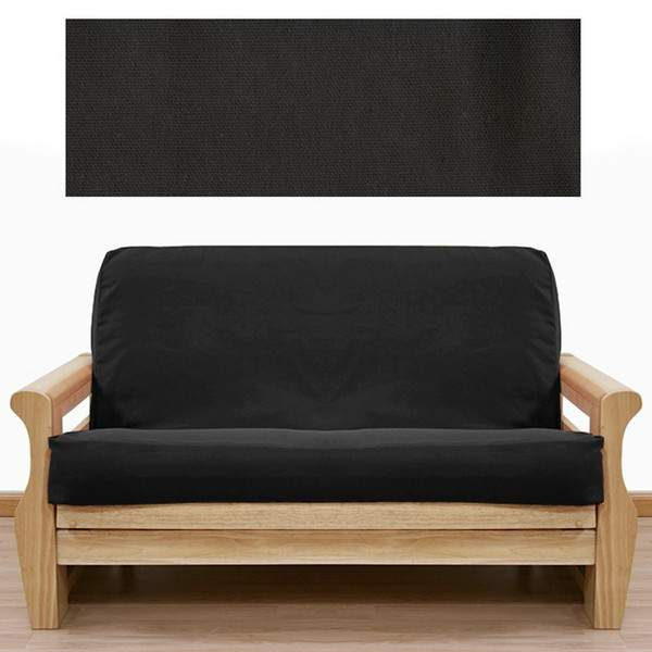 Miraculous Solid Black Futon Cover 400 Full Alphanode Cool Chair Designs And Ideas Alphanodeonline