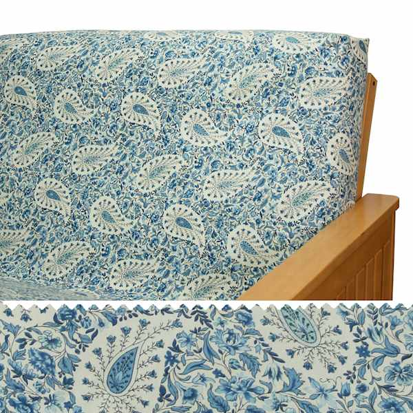 Blue Jay Paisley Custom Dining Chair Cover 83
