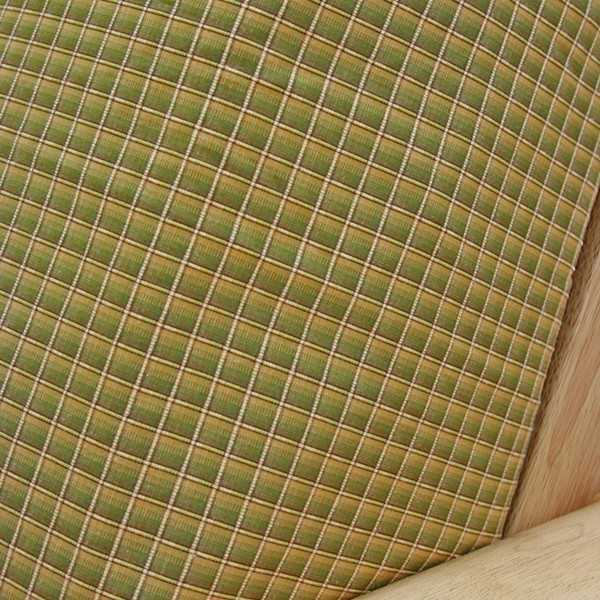 Goldenrod Check Custom Dining Chair Cover 2