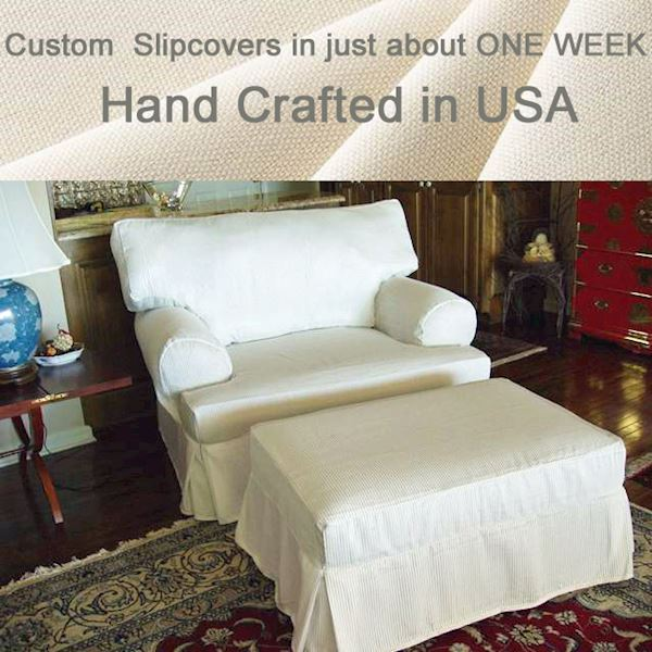 Solid Natural Custom Ottoman Cover 407