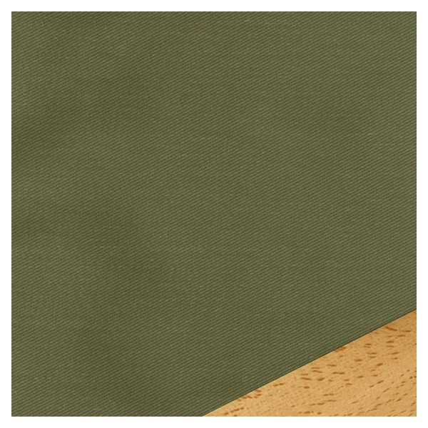 Twill Solid Olive Custom Ottoman Cover 397