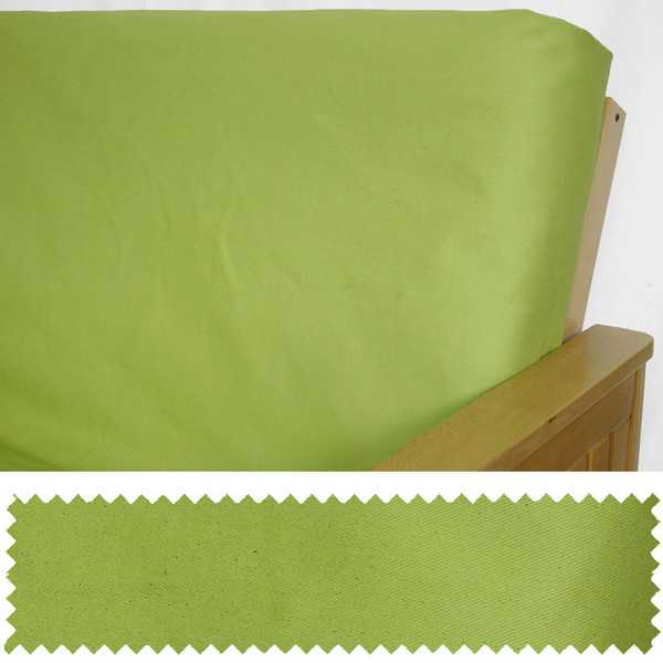 Twill Speckle Lime Custom Ottoman Cover 119