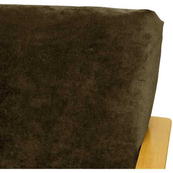 Ultra Suede Brown Custom Ottoman Cover 287