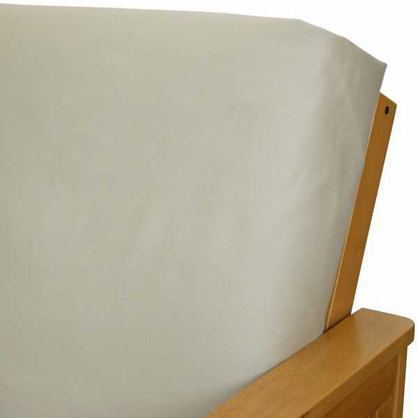 Brushed Cinnamon Canvas Custom Ottoman Cover 181
