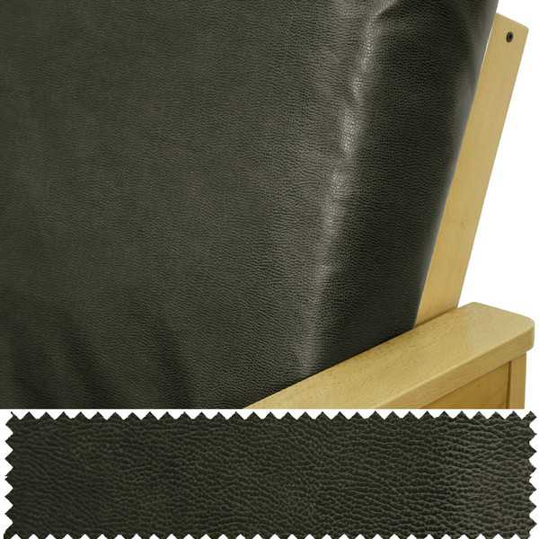Faux Leather Graphite Custom Furniture Slipcover 250