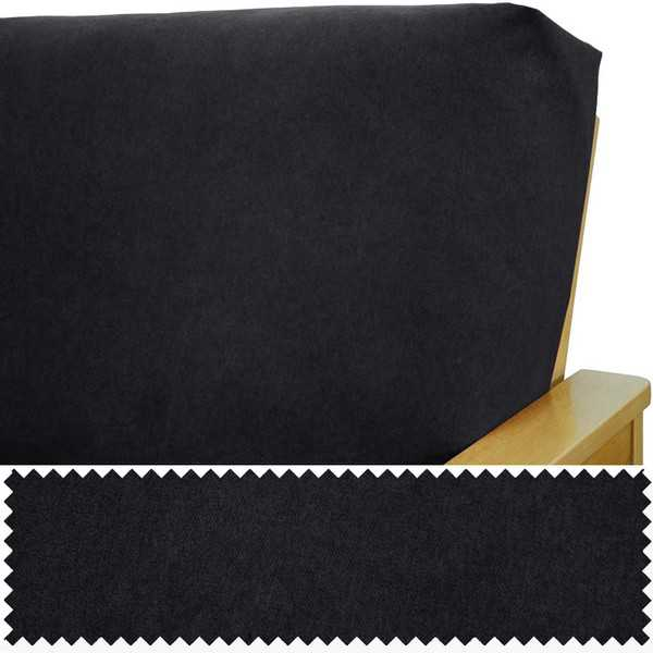 Micro Suede Black Elasticized Cushion Cover 284