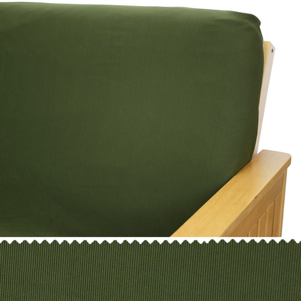 Stretch Olive Zippered Cushion Cover 164