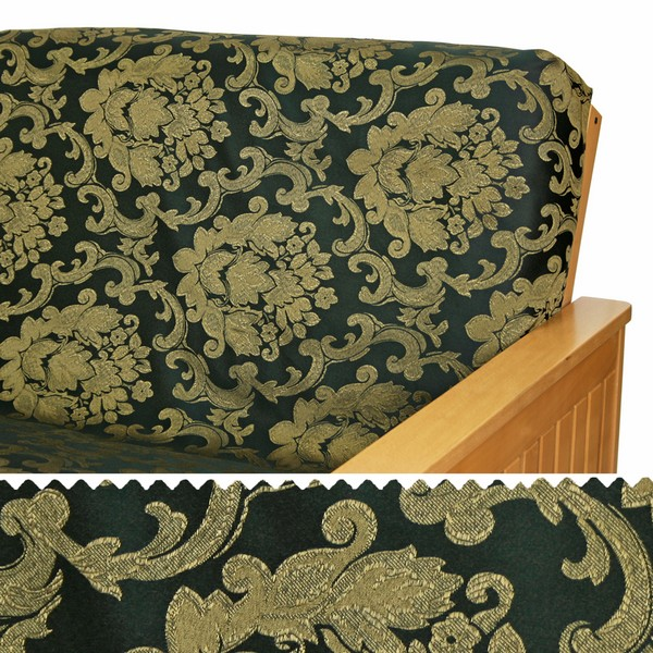 Damask Midnight Gold Custom Dining Chair Cover 211