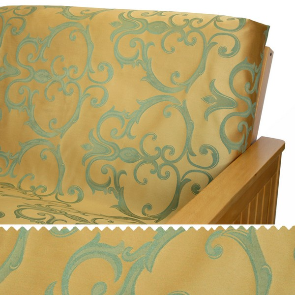 Damask Sunshine Scroll Arm Cover Protectors 216