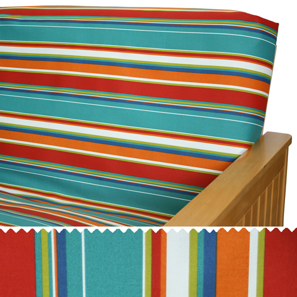 Covert Stripe Fiesta Elasticized Cushion Cover 55