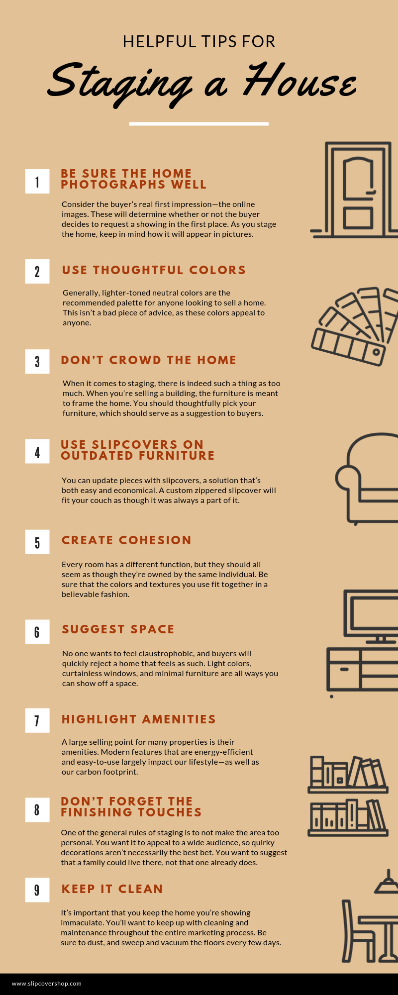 Helpful Tips for Staging a House infographic