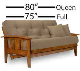 88% of futons sold in US are Full Size