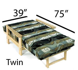 Twin Futon and Cover