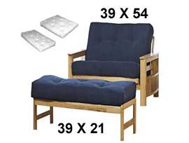 Split Twin 39 X 54 Ottoman 21 The Futon Uses A Cushion That Is Wide And Long For Seat Back Of Frame